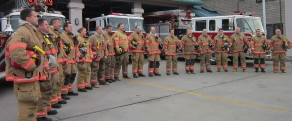 Fire Department staff in turnout gear