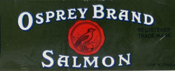 Osprey Brand Salmon Can Label