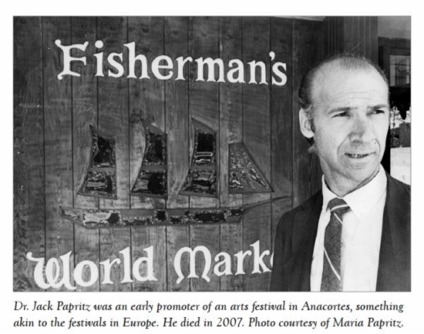 Dr. Jack Papritz at the Fishermans World Market started with his wife, Maria