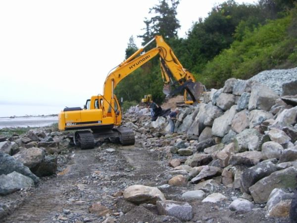 Yellow Construction Truck with Rocks