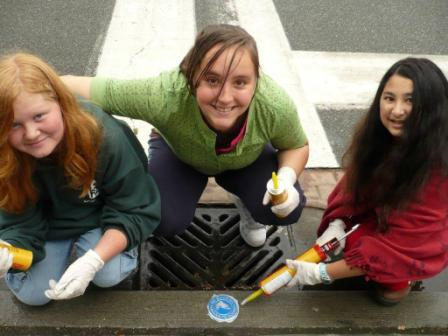3 Girls with Storm Drain