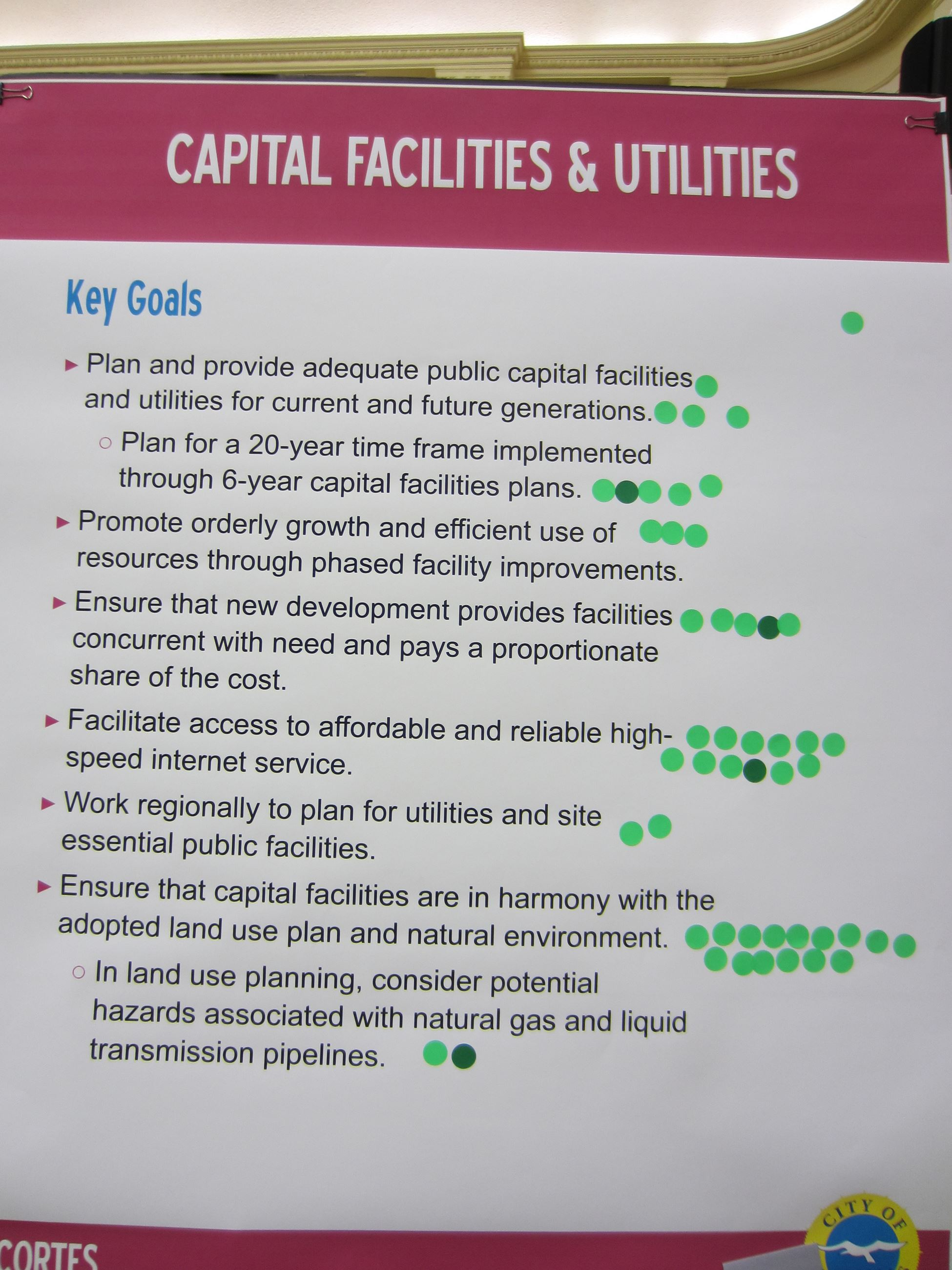 Capital Facilities and Utilities Key Goals